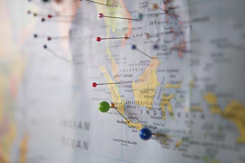 Imagem mapa com pins